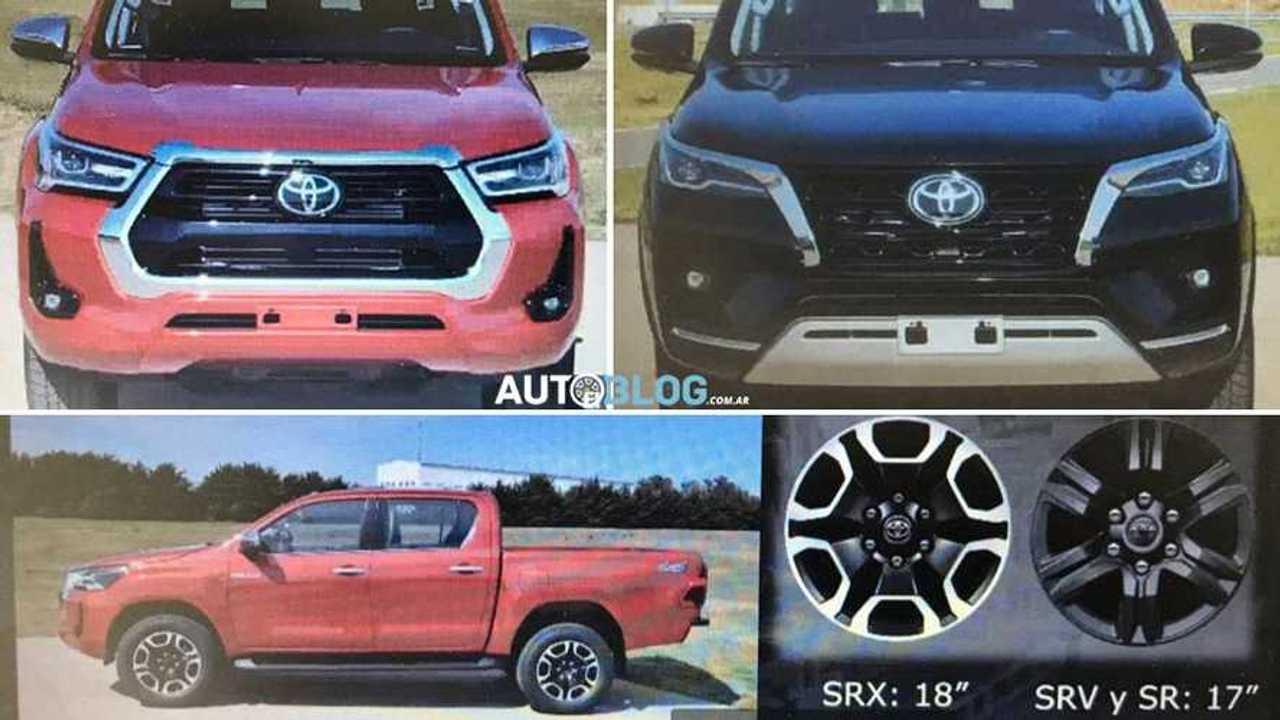 Toyota Hilux 2021 e SW4 2021 - Apresentação vazada