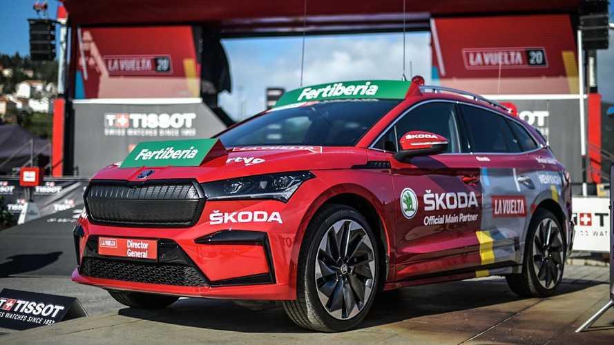El Skoda Enyaq iV se deja ver en La Vuelta a España 2020