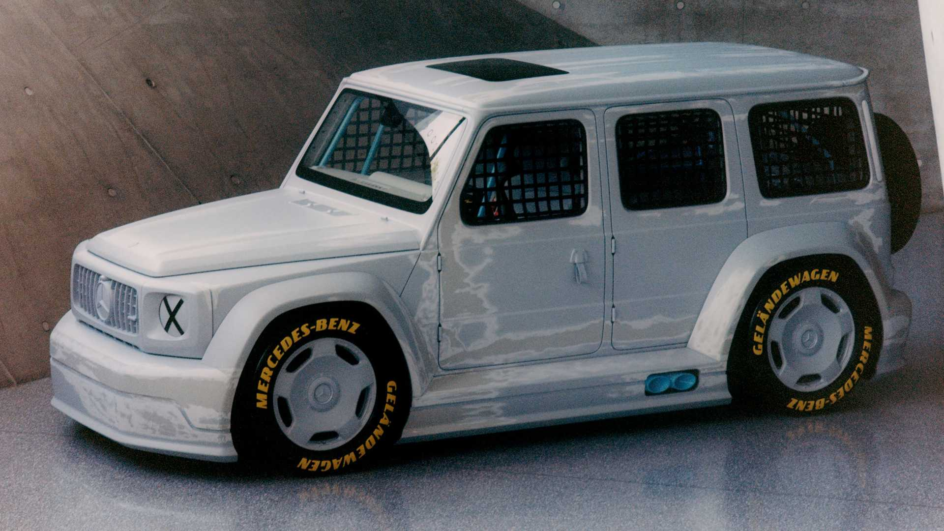this mercedes benz g class race car is actually an art project this mercedes benz g class race car is
