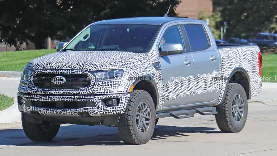 Three Ford Ranger Tremor Pickups Spied Testing Together