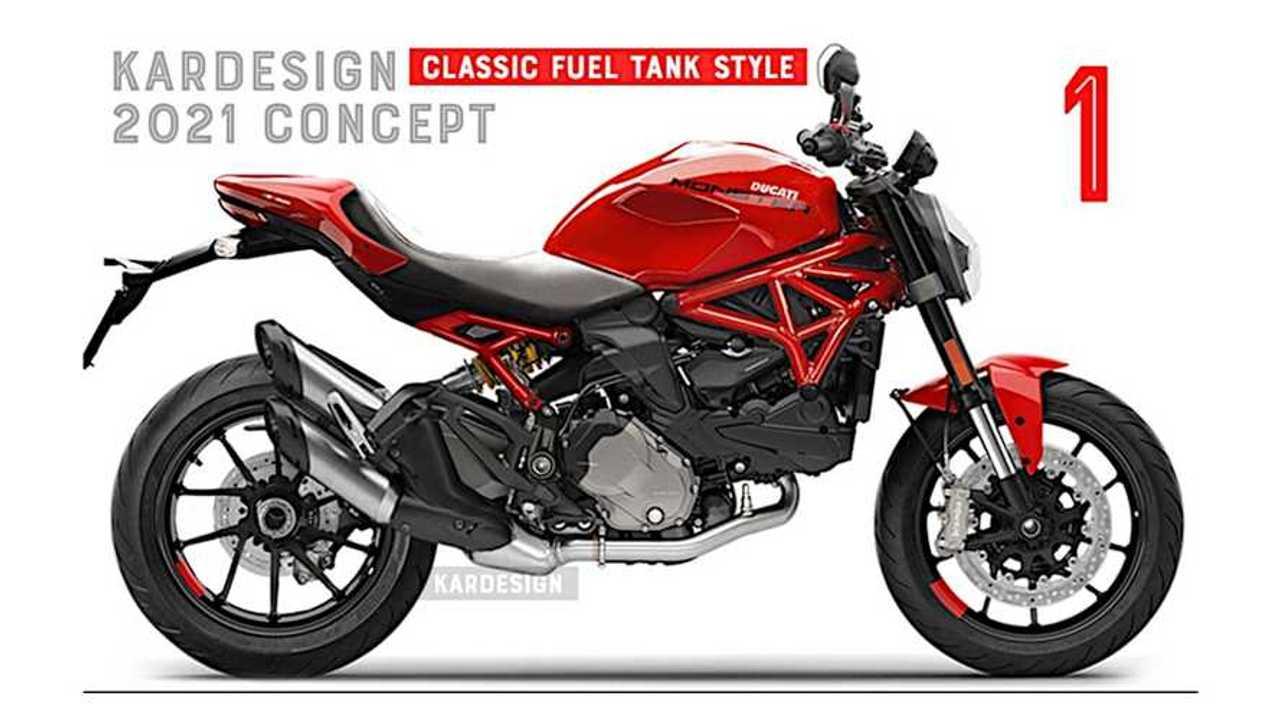 Kardesignkoncepts 2021 Ducati Monster Render