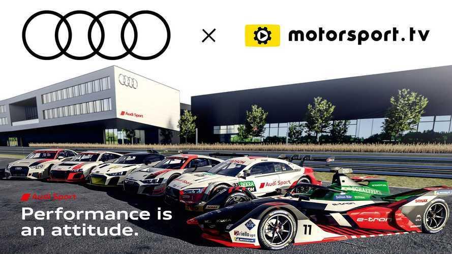 Audi Sport, Motorsport.tv'de özel kanalına sahip oldu