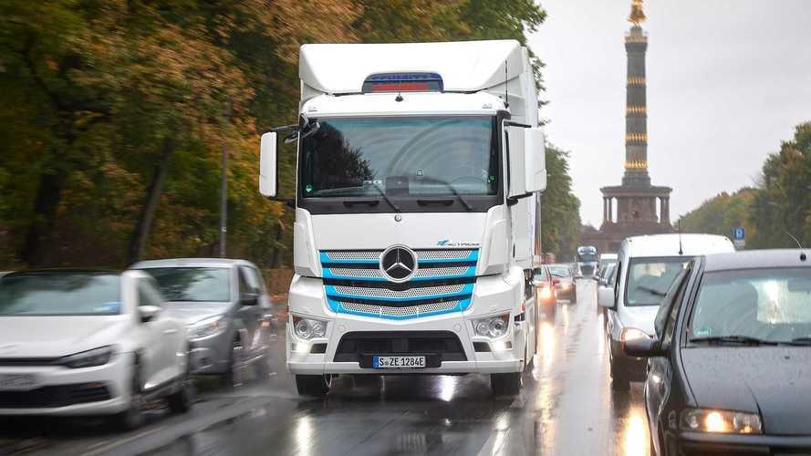 Só caminhão elétrico ou a hidrogênio poderá circular na Europa a partir de 2040