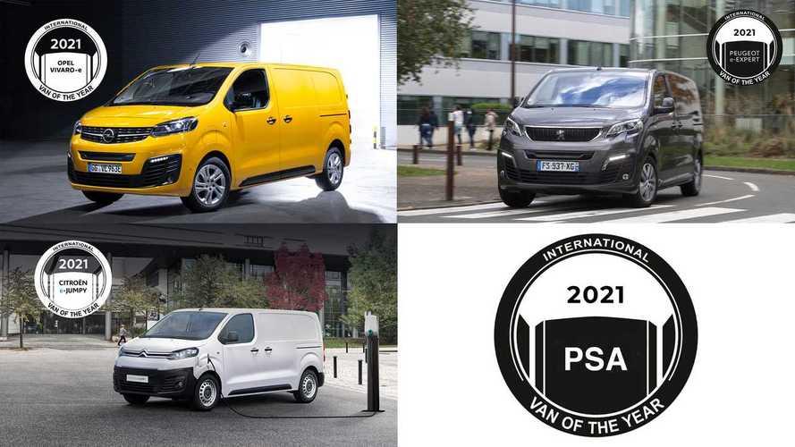 Citroen e-Jumpy, Peugeot e-Expert e Opel VIvaro-e Van of the Year 2021