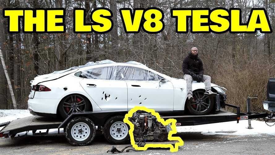 Why Would Rich Rebuilds Put A V8 Into A Tesla Model S?