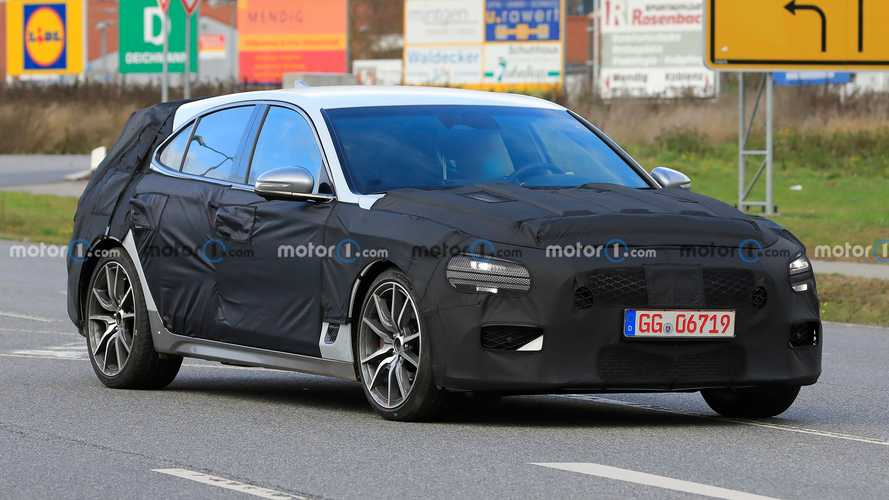 Genesis G70 Shooting Brake Spied Not Ready To Reveal Actual Shape Yet