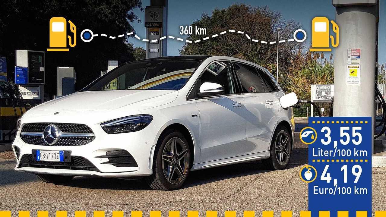 Mercedes B 250 e (2020) im Verbrauchstest