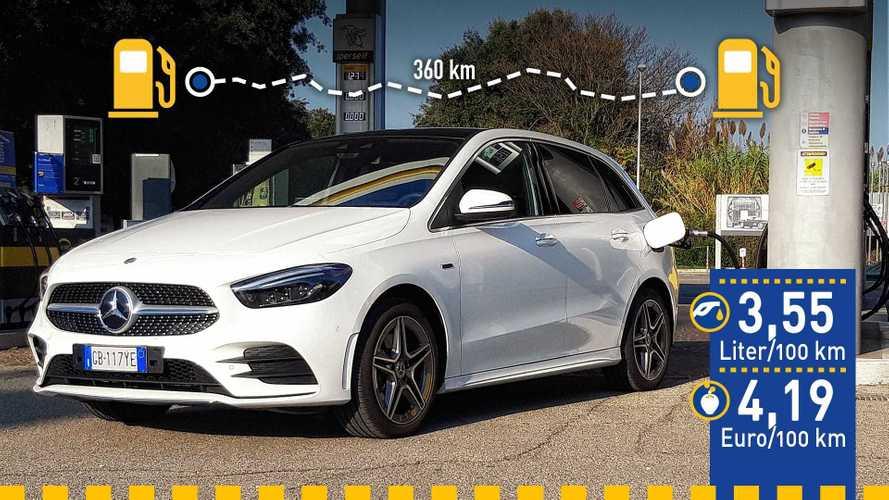 Tatsächlicher Verbrauch: Mercedes B 250 e im Test