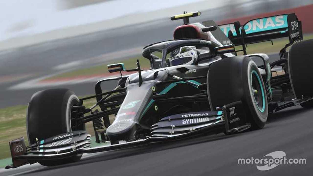 Mercedes F1 eSports car in Black livery