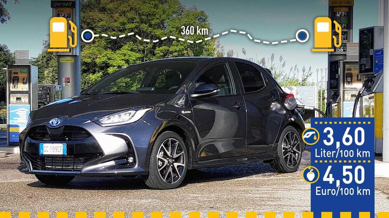 Toyota Yaris Hybrid (2020) im Verbrauchstest