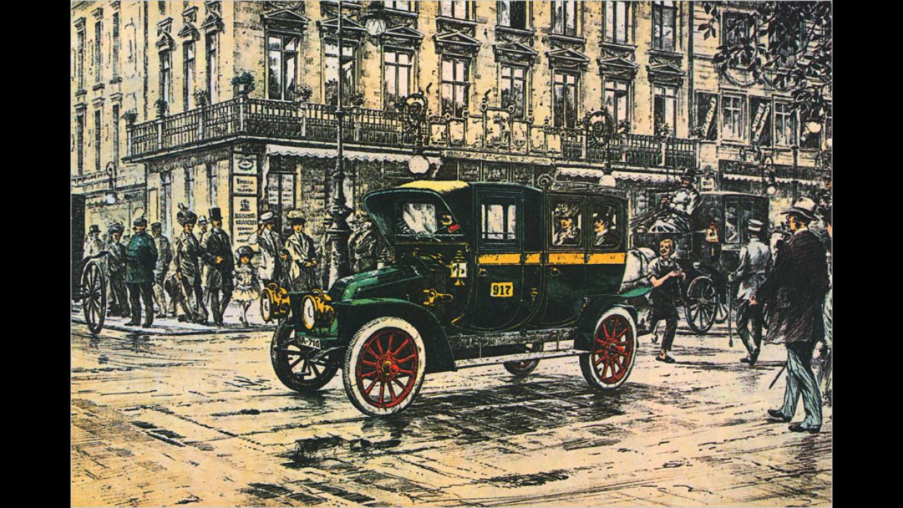 Renault-Taxi Berlin 1907