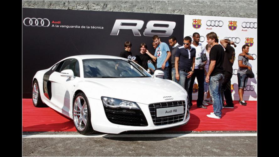 Star-Kicker fahren Audi