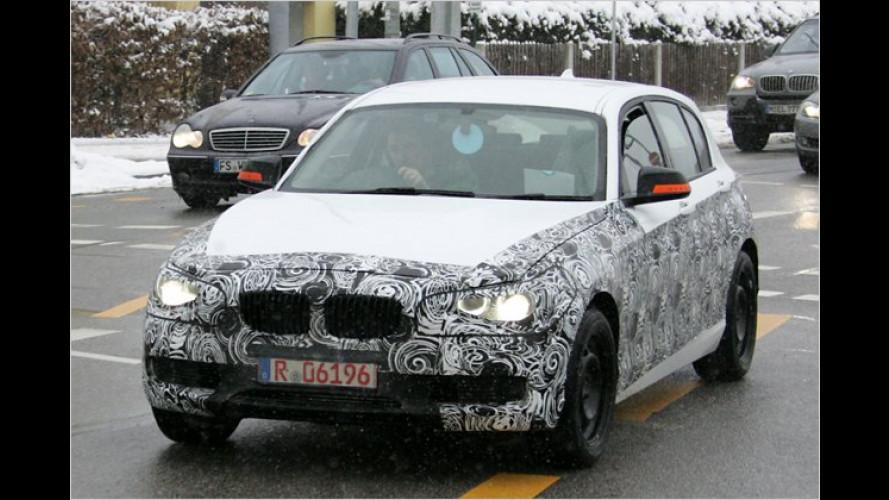 Erwischt: BMW 1er mit weniger Tarnung