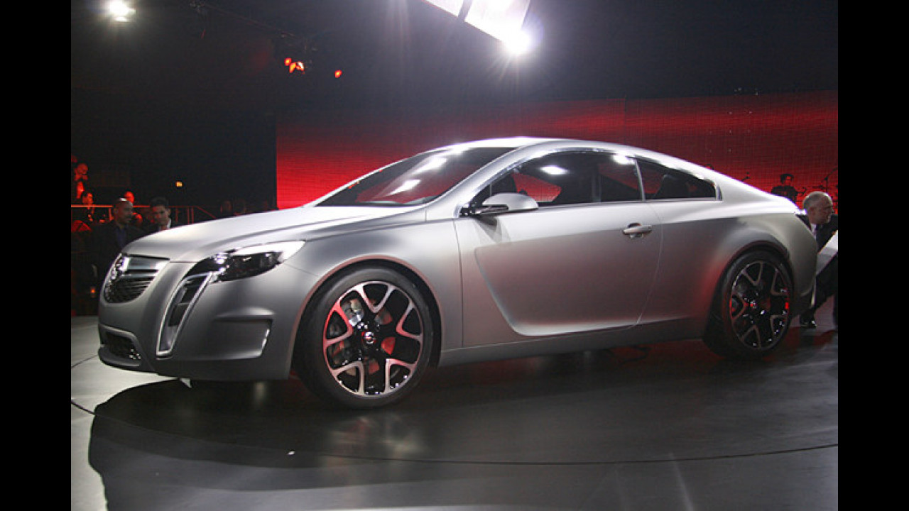 Die Opel-Studie GTC Concept gab einen ersten Ausblick auf den Vectra-Nachfolger Insignia