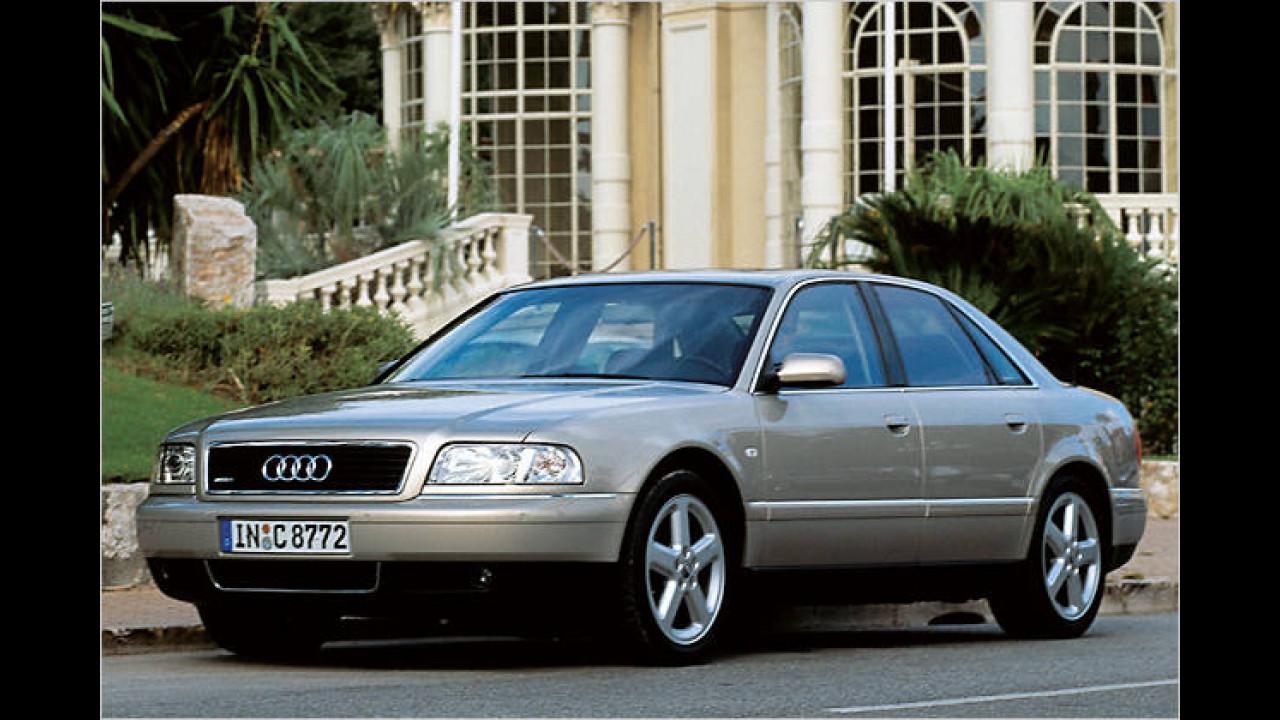 Aluminium-Karosserie in Großserie: Der Audi A8 behauptet sich seit seinem Genf-Auftritt 1994 in der Oberklasse