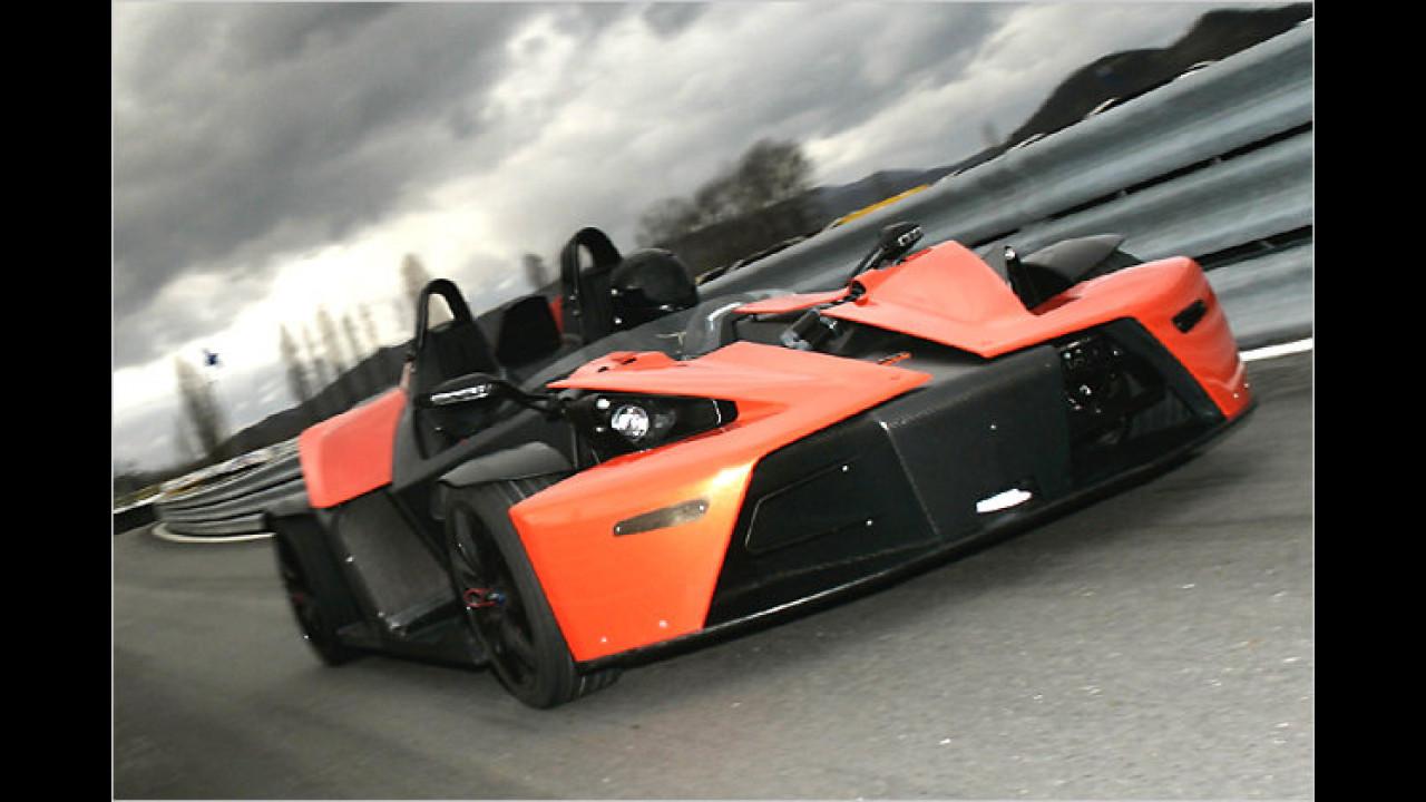 Der KTM X-Bow (gesprochen: Cross Bow) war 2007 als Prototyp mit dabei, 2008 kam das Serienmodell in die Schweiz