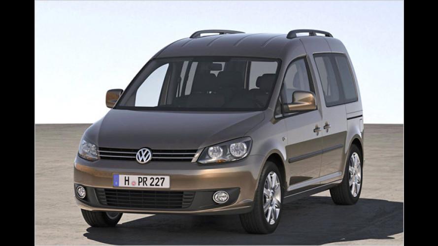 VW Caddy (2010) erhält sparsamere Motoren und neues Design