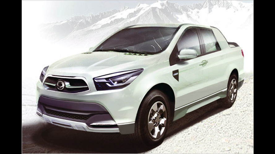 SsangYong SUT 1: Pick-up-Studie des neuen Actyon Sports