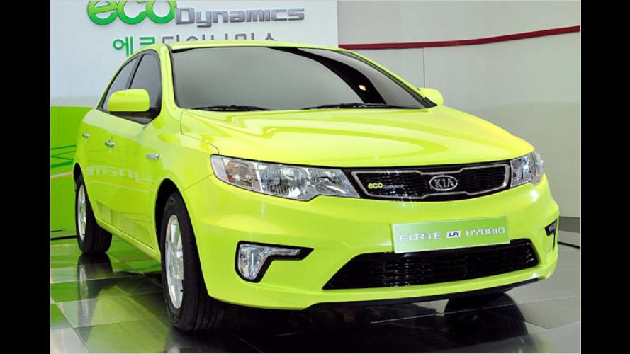 Kia zeigt ersten Serien-Hybrid mit Lithium-Polymer-Batterien