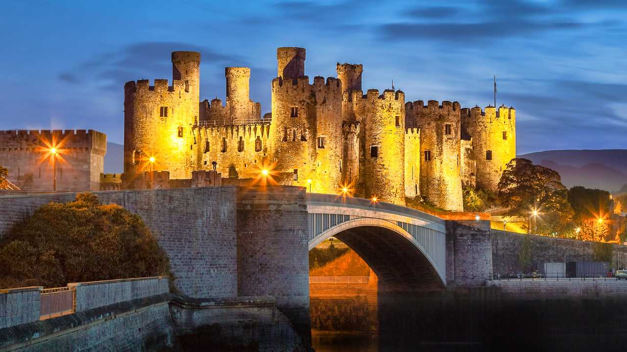 Famous Conwy Castle in Wales UK