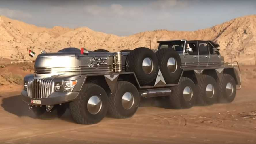 The Rainbow Sheikh Has Built A Giant Ten-Wheeled Truck