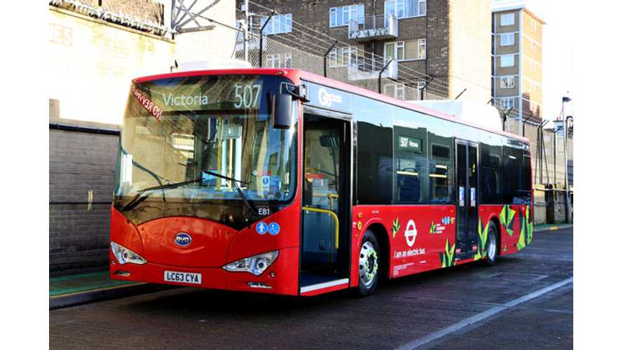 BYD eBus Enters Service in London