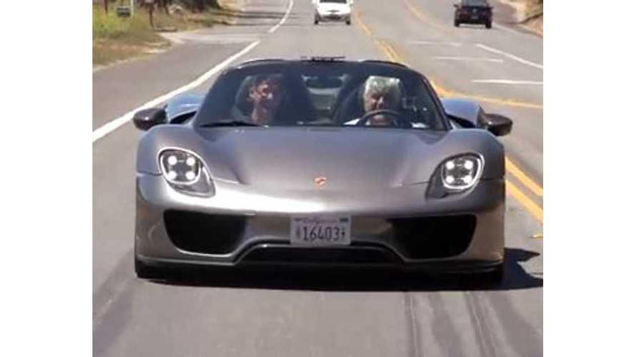 Video: Jay Leno Drives the Porsche 918 Spyder