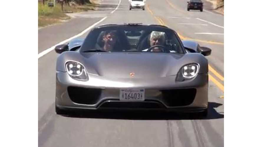 Video: Jay Leno Drives the Porsche 918 Spyder