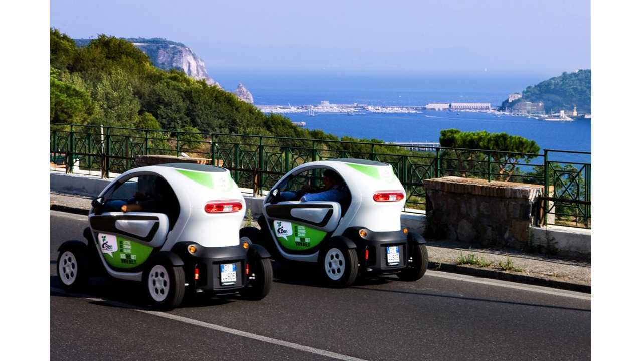 Renault Launches Electric Carsharing Scheme With Twizy in Italy (w/video)