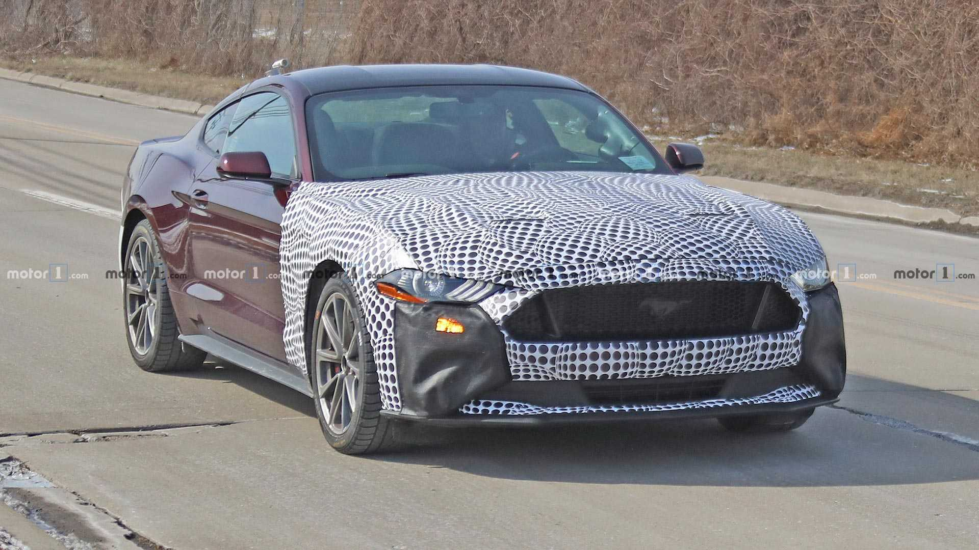 Ford mustang hybrid test mule possibly spied on the road