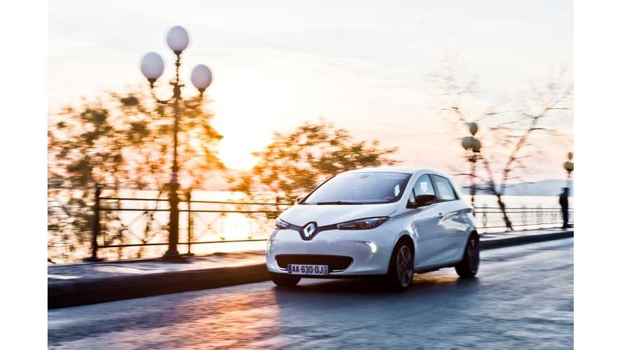 Renault Zoe Quickly Captures 73.6% of France's Electric Vehicle Market; Kangoo Z.E. Grabs 83.5% of its Segment