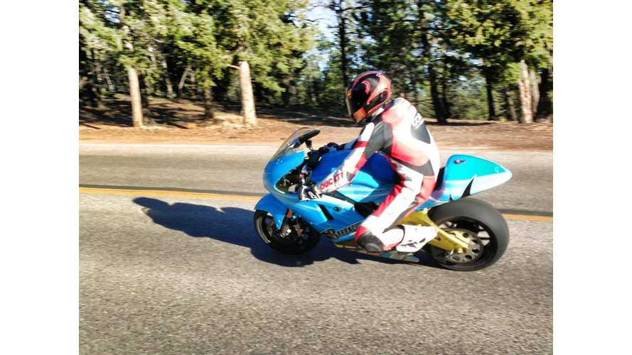 Carlin Dunne on Electric Lightning Motorcycles Clocks Lowest Time in Pikes Peak International Hill Climb Tire Tests