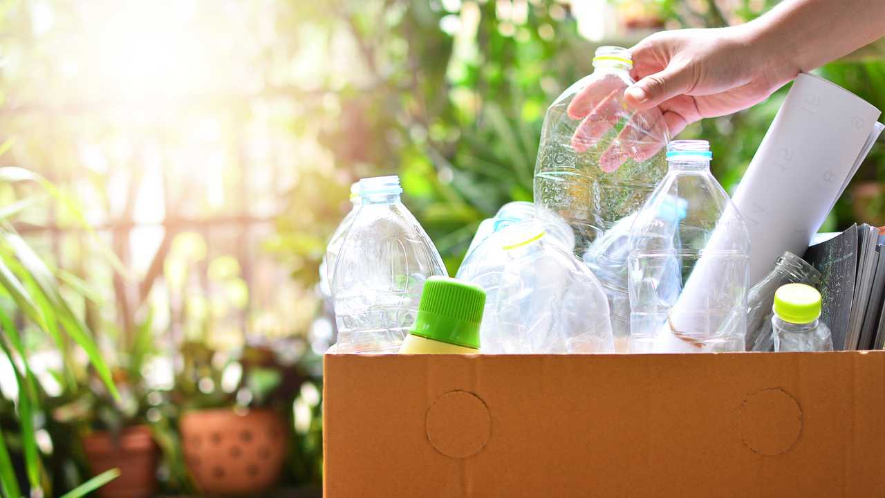 Plastic bottle garbage for recycling