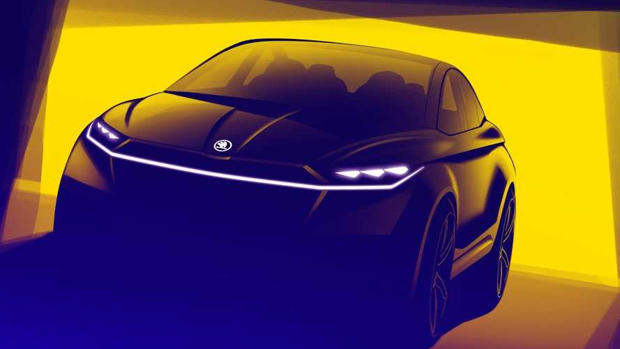 Skoda Vision iV Concept teased ahead of Geneva
