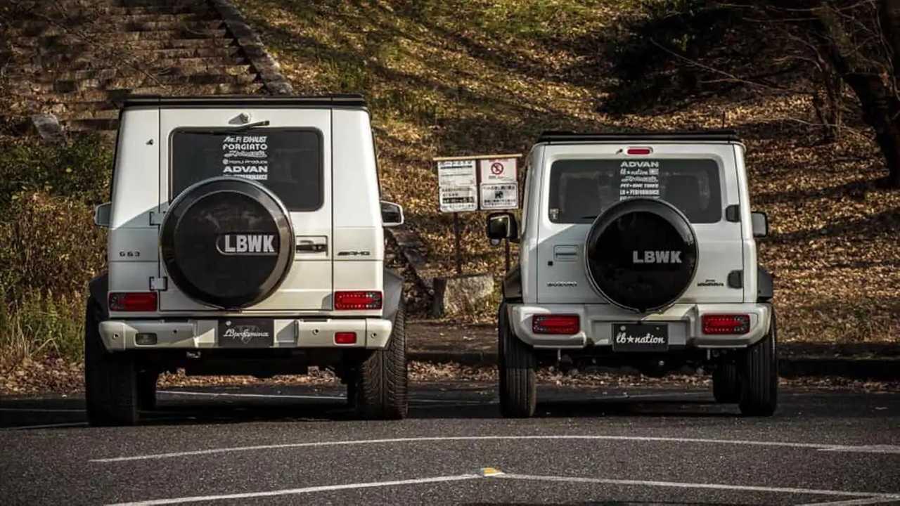 Liberty Walk Suzuki Jimny And Mercedes-Benz G-Class