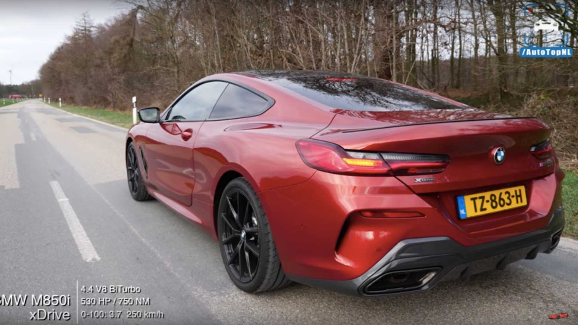 Bmw M850i Flexes Its Muscles In Acceleration Test