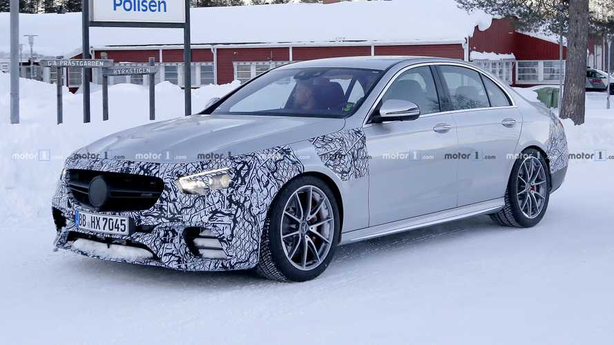 2021 Mercedes-AMG E63 Saloon facelift spied for first time