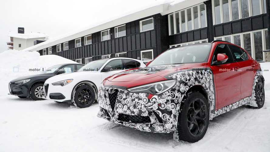 Alfa Romeo Stelvio Fleet Spied With Strange Camo, Interior Update