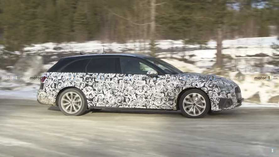 Audi A4, berlina e Avant spiate nel freddo
