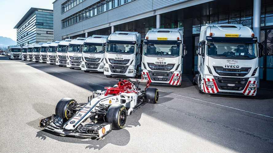 Iveco e Formula1, 12 Stralis ad Alfa Romeo