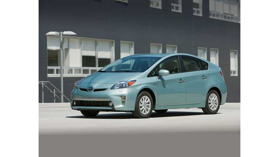 Toyota Looks To Keep 2013 Prius Plug-In Sales On Pace With 2012.  Kinda.  Not Really.