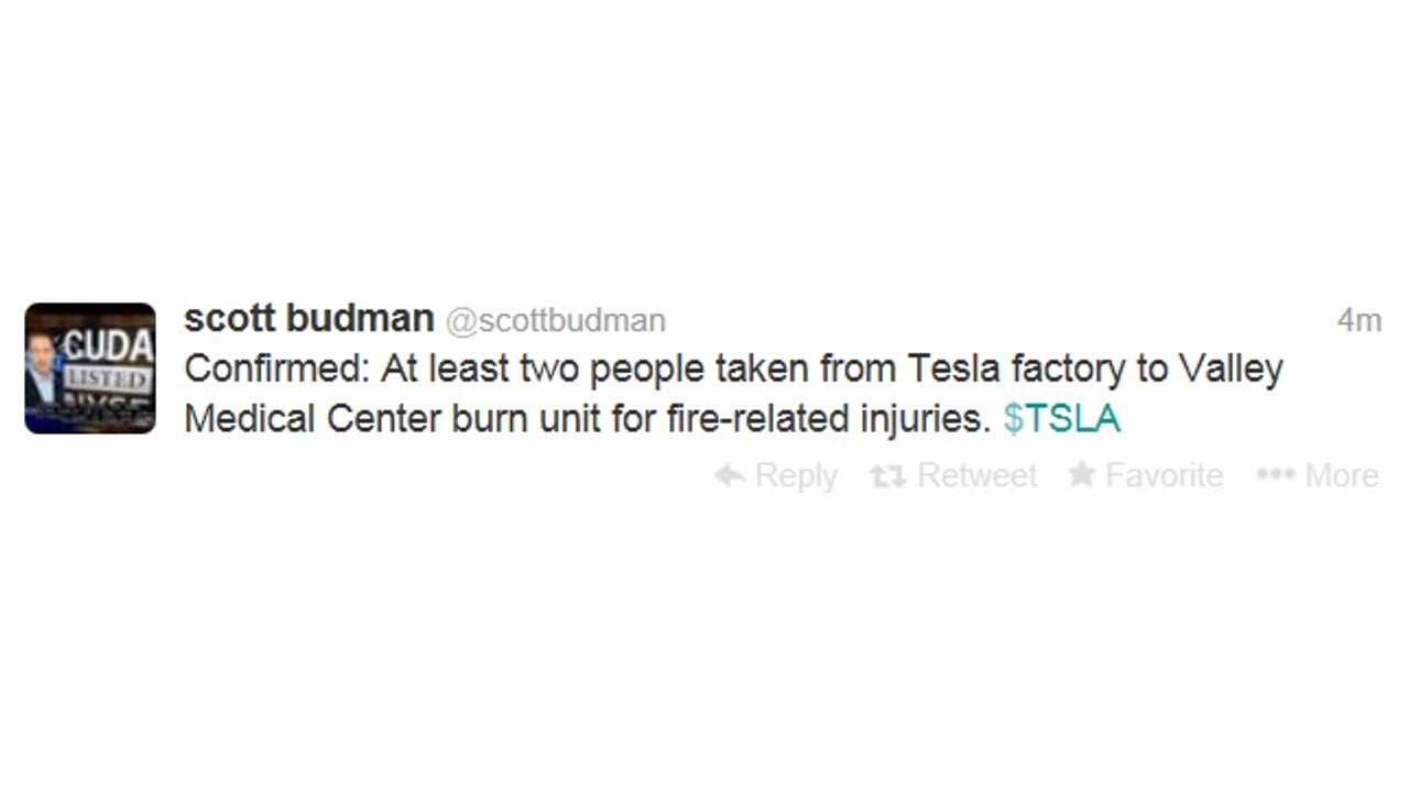 NBC Reporter Scott Budman Confirms Two Injuries At Tesla Factory