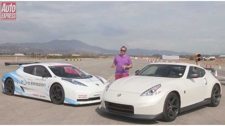 Video: Nissan LEAF Nismo RC Versus Nissan 370Z Nismo