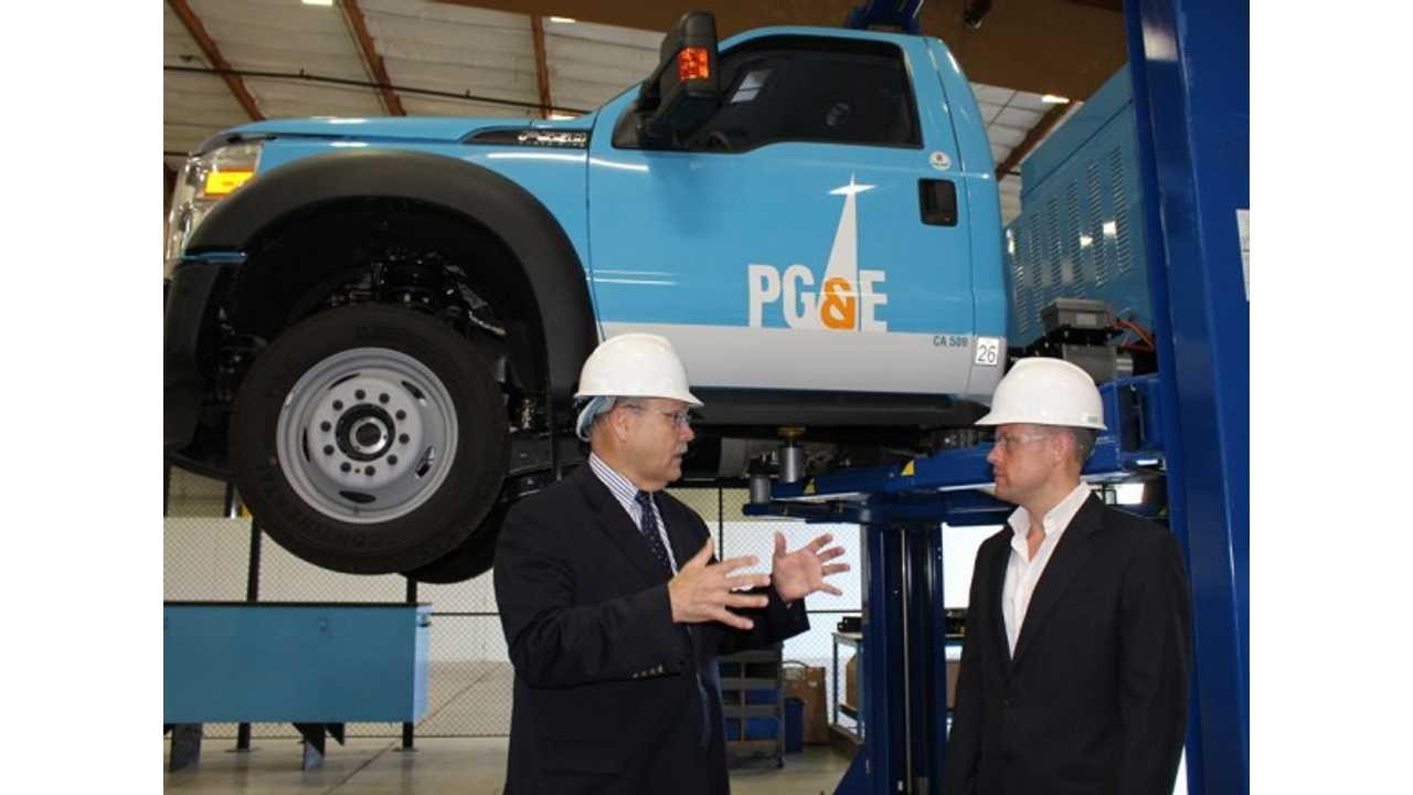 Utility PG&E to Replace All of Its 942 Class 5 Work Trucks With Plug-In Hybrids