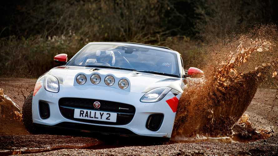 Jaguar F-Type rally car first drive: Power-sliding pussycat