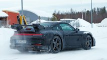 2019 Porsche 911 GT3 Karlı Zeminde Casus Fotoğrafları