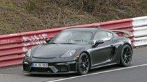 Porsche 718 Cayman GT4 2019 ungetarnte Erlkönigbilder