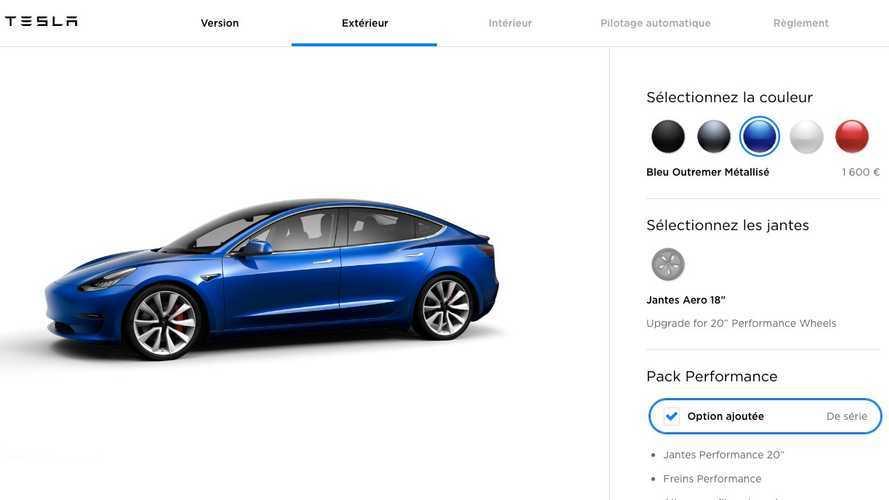 Tesla Model 3 - Le configurateur français désormais en ligne !