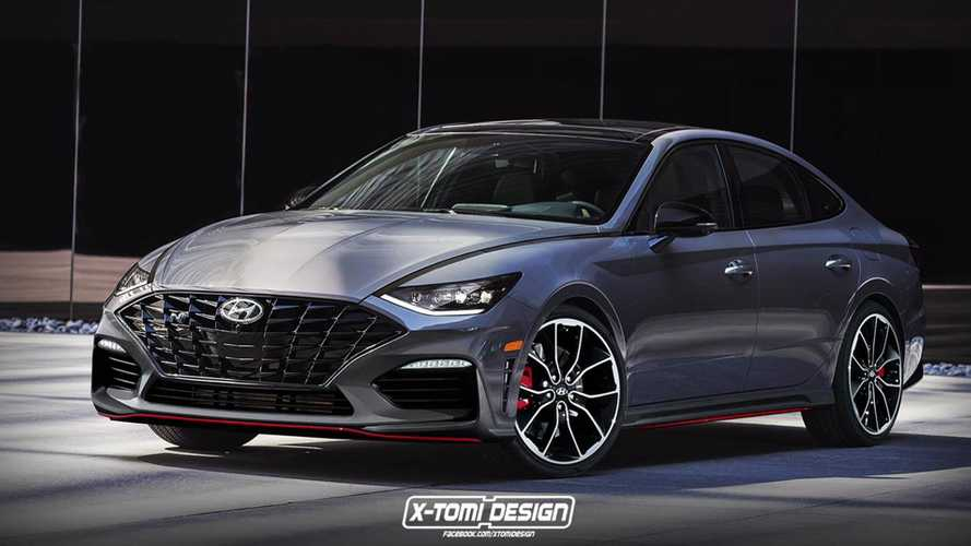 2020 Hyundai Sonata N Rendered Imagining Meaner Model
