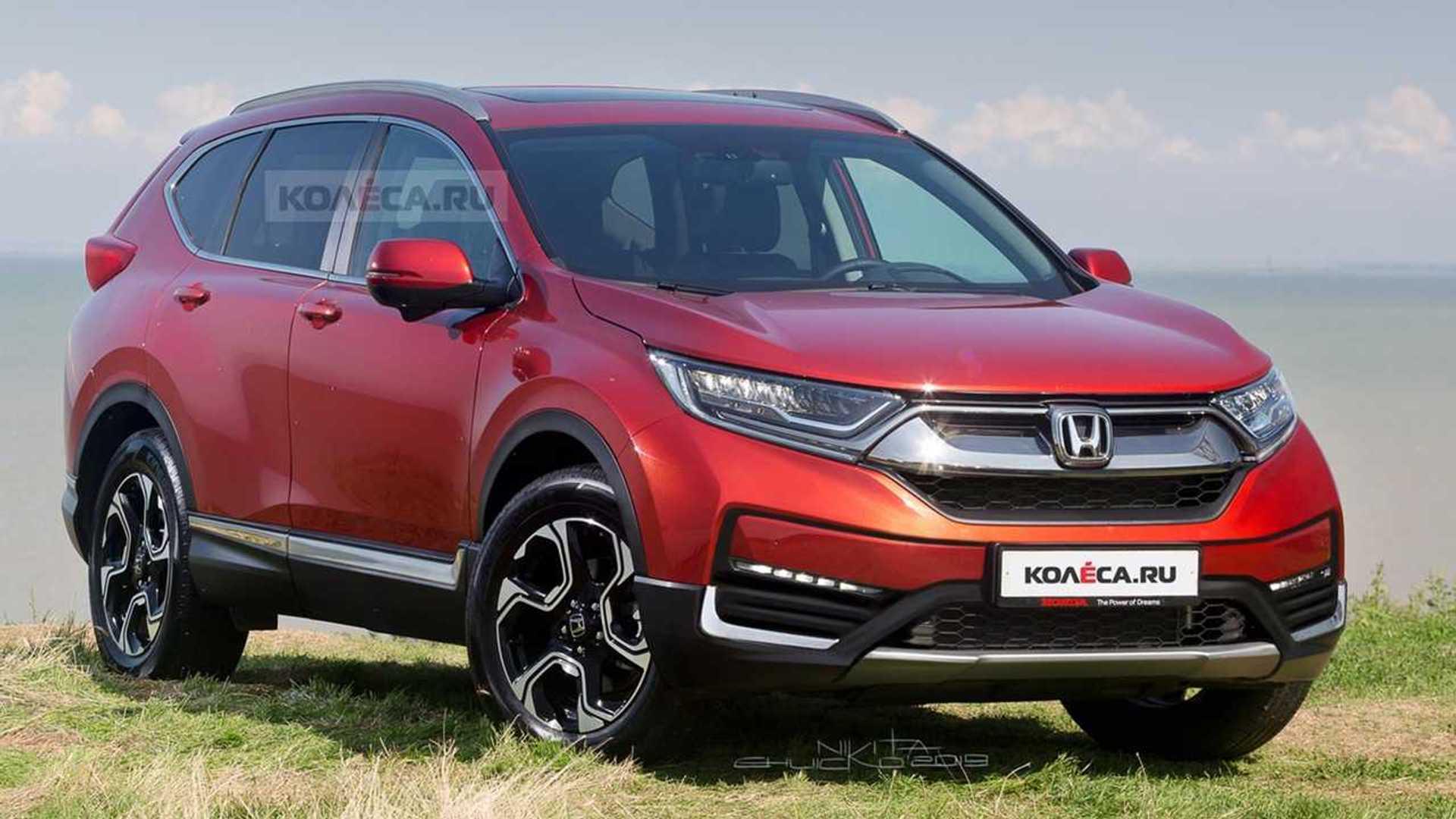 2020 Honda Cr V Facelift Rendered Based On Spy Shots